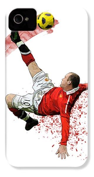 Wayne Rooney IPhone 4s Case by Armaan Sandhu