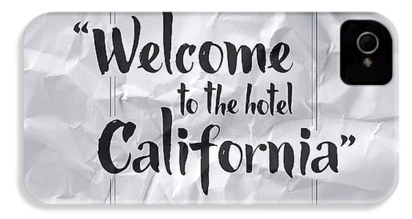 Welcome To The Hotel California IPhone 4s Case by Samuel Whitton