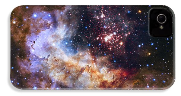 Westerlund 2 - Hubble 25th Anniversary Image IPhone 4s Case by Adam Romanowicz