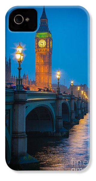 Westminster Bridge At Night IPhone 4s Case by Inge Johnsson