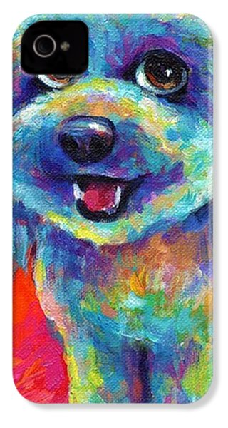 Whimsical Labradoodle Painting By IPhone 4s Case