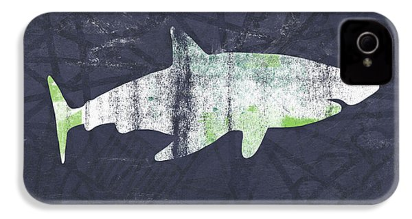 White Shark- Art By Linda Woods IPhone 4s Case by Linda Woods