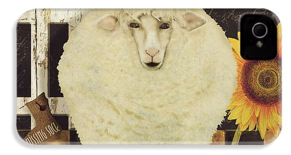 White Wool Farms IPhone 4s Case by Mindy Sommers