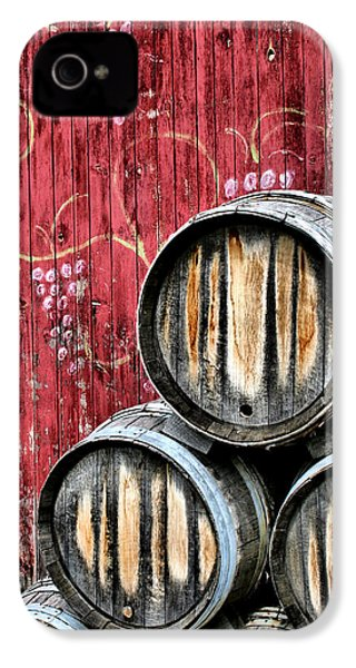 Wine Barrels IPhone 4s Case by Doug Hockman Photography