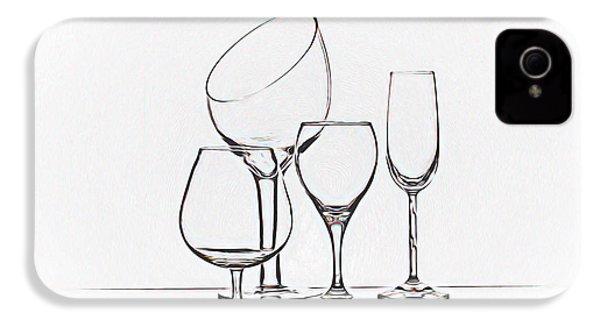Wineglass Graphic IPhone 4s Case by Tom Mc Nemar