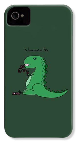 Winosaurus Rex IPhone 4s Case by Tamera Dion
