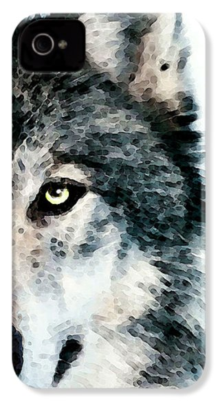 Wolf Art - Timber IPhone 4s Case by Sharon Cummings