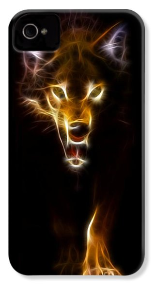 Wolf Ready To Attack IPhone 4s Case by Pamela Johnson