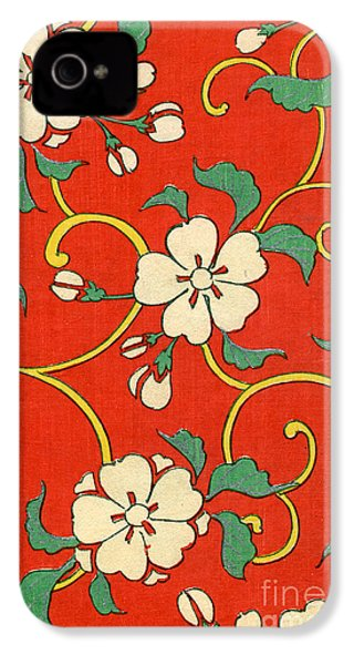 Woodblock Print Of Apple Blossoms IPhone 4s Case by Japanese School
