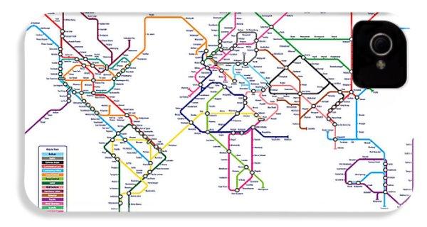 World Metro Tube Subway Map IPhone 4s Case by Michael Tompsett
