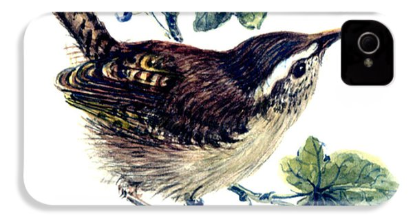 Wren In The Ivy IPhone 4s Case by Nell Hill