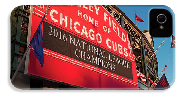 Wrigley Field Marquee Angle IPhone 4s Case by Steve Gadomski
