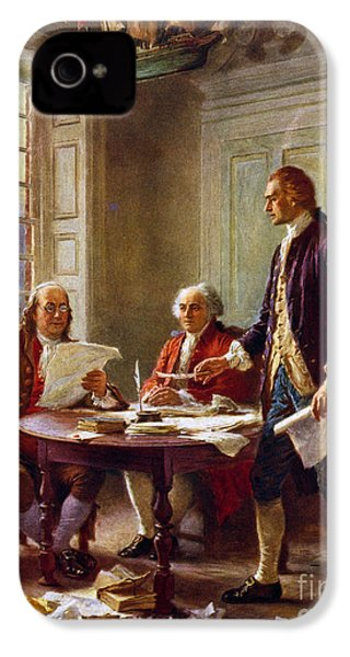 Writing The Declaration Of Independence, 1776, IPhone 4s Case by Leon Gerome Ferris