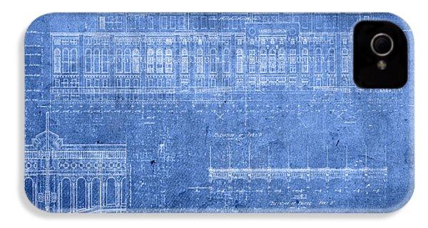 Yankee Stadium New York City Blueprints IPhone 4s Case
