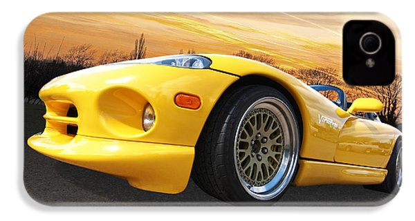 Yellow Viper Rt10 IPhone 4s Case by Gill Billington