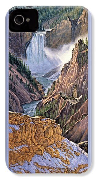 Yellowstone Canyon-osprey IPhone 4s Case by Paul Krapf