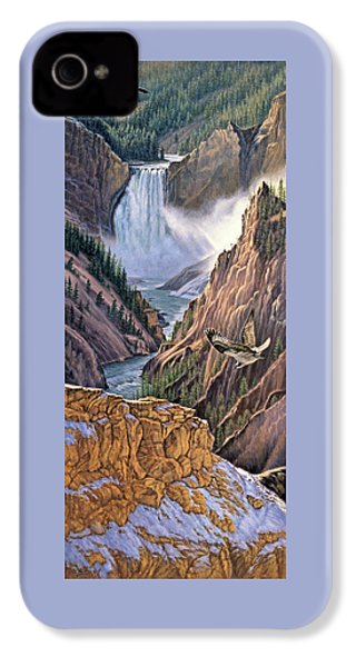 Yellowstone Canyon-osprey IPhone 4s Case