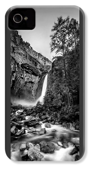 Yosemite Waterfall Bw IPhone 4s Case by Az Jackson