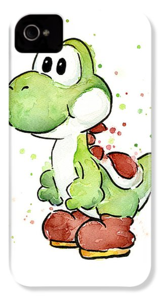 Yoshi Watercolor IPhone 4s Case by Olga Shvartsur