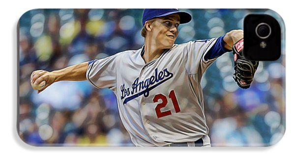 Zack Greinke Los Angeles Dodgers IPhone 4s Case by Marvin Blaine