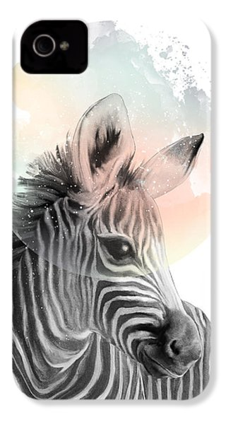 Zebra // Dreaming IPhone 4s Case by Amy Hamilton