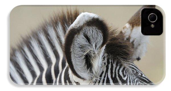 Zebra Ears IPhone 4s Case by David & Micha Sheldon
