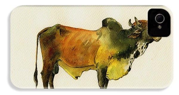 Zebu Cattle Art Painting IPhone 4s Case by Juan  Bosco