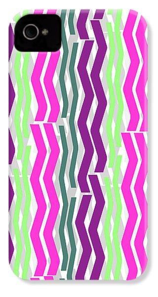 Zig Zig Stripes IPhone 4s Case by Louisa Knight