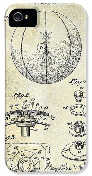 1927 Basketball Patent Drawing IPhone 5 Case by Jon Neidert