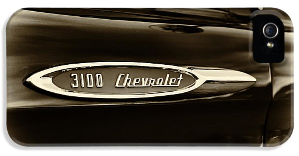 3100 Chevrolet Truck Sepia IPhone 5 Case by Tim Gainey