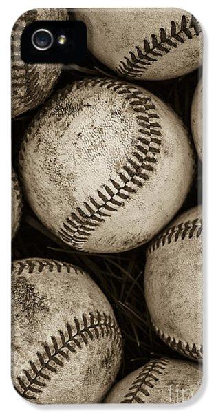 Day iPhone 5 Case -  Baseballs by Diane Diederich
