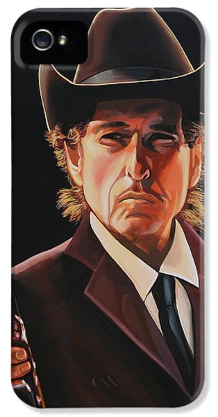 Rolling Stone Magazine iPhone 5 Case -  Bob Dylan 2 by Paul Meijering