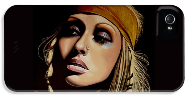 Rhythm And Blues iPhone 5 Case -  Christina Aguilera Painting by Paul Meijering