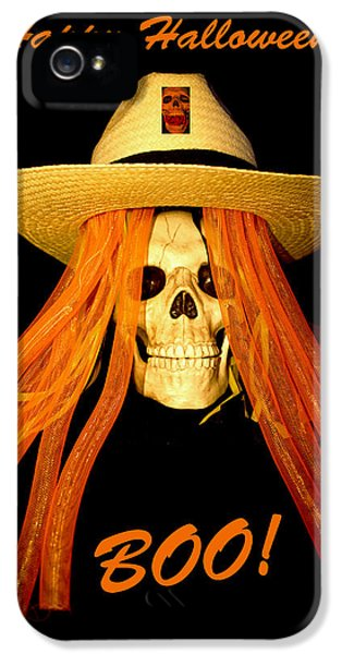 Happy Halloween Skull IPhone 5 Case by Barbara Snyder