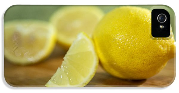 Lemon Citrus Limon Zitronen IPhone 5 Case by Iris Richardson
