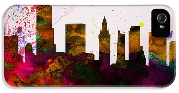 Miami City Skyline IPhone 5 Case by Naxart Studio