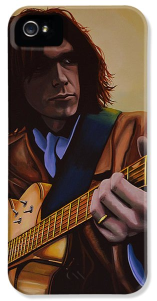 Neil Young Painting IPhone 5 Case by Paul Meijering