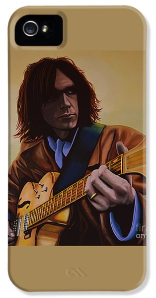 Neil Young Painting IPhone 5 / 5s Case by Paul Meijering