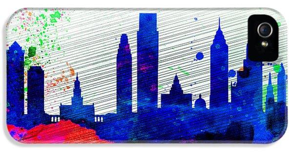 Philadelphia City Skyline IPhone 5 / 5s Case by Naxart Studio