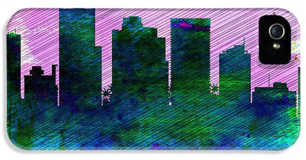 Phoenix City Skyline IPhone 5 Case by Naxart Studio