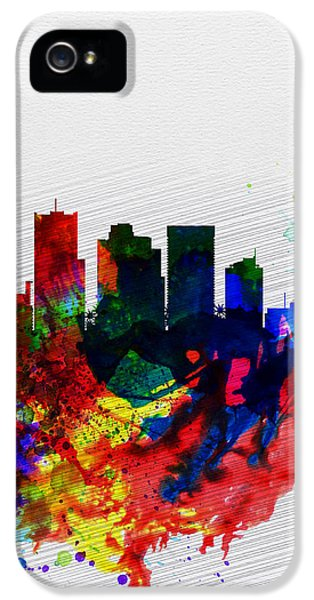 Phoenix Watercolor Skyline 2 IPhone 5 Case by Naxart Studio