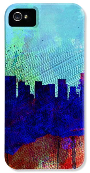Portland Watercolor Skyline IPhone 5 Case