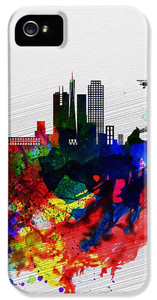 San Francisco Watercolor Skyline 1 IPhone 5 Case by Naxart Studio