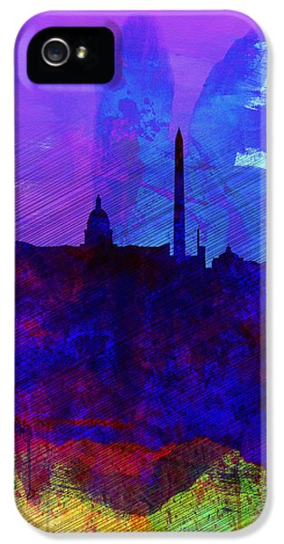 Washington Dc Watercolor Skyline 2 IPhone 5 Case