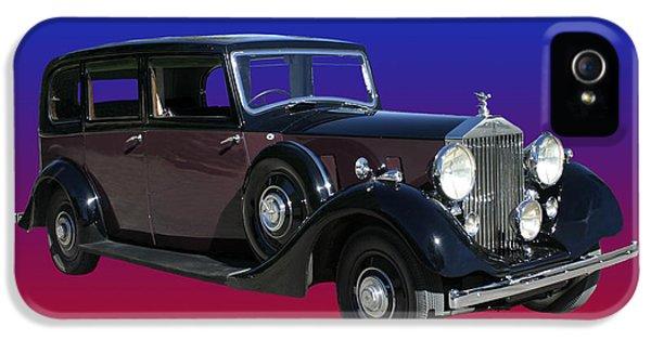 1938 Rolls Royce Limousine IPhone 5 Case by Jack Pumphrey