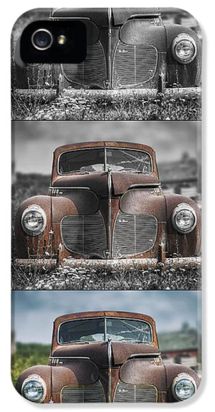 1940 Desoto Deluxe Triptych IPhone 5 Case by Scott Norris