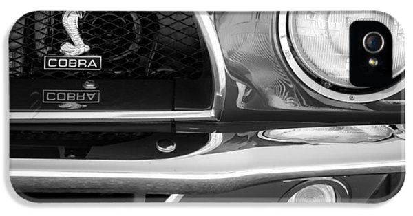 1968 Ford Mustang Fastback 427 Ci Cobra Grille Emblem IPhone 5 Case by Jill Reger