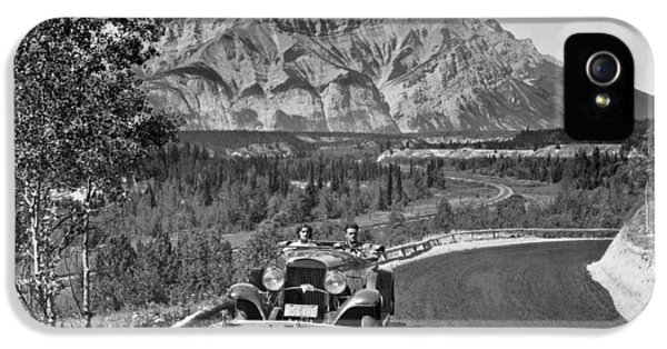 A Roadster In The Rockies IPhone 5 Case by Underwood Archives