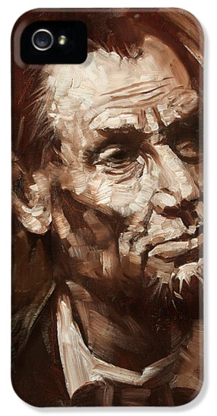 Abraham Lincoln IPhone 5 Case by Ylli Haruni