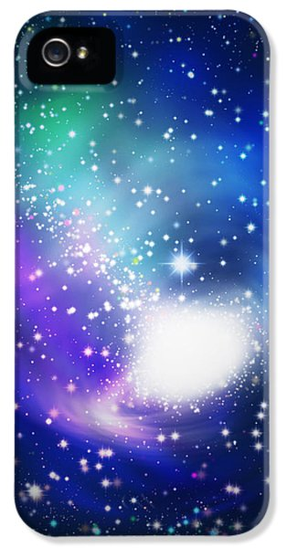 Abstract Galaxy IPhone 5 Case by Atiketta Sangasaeng